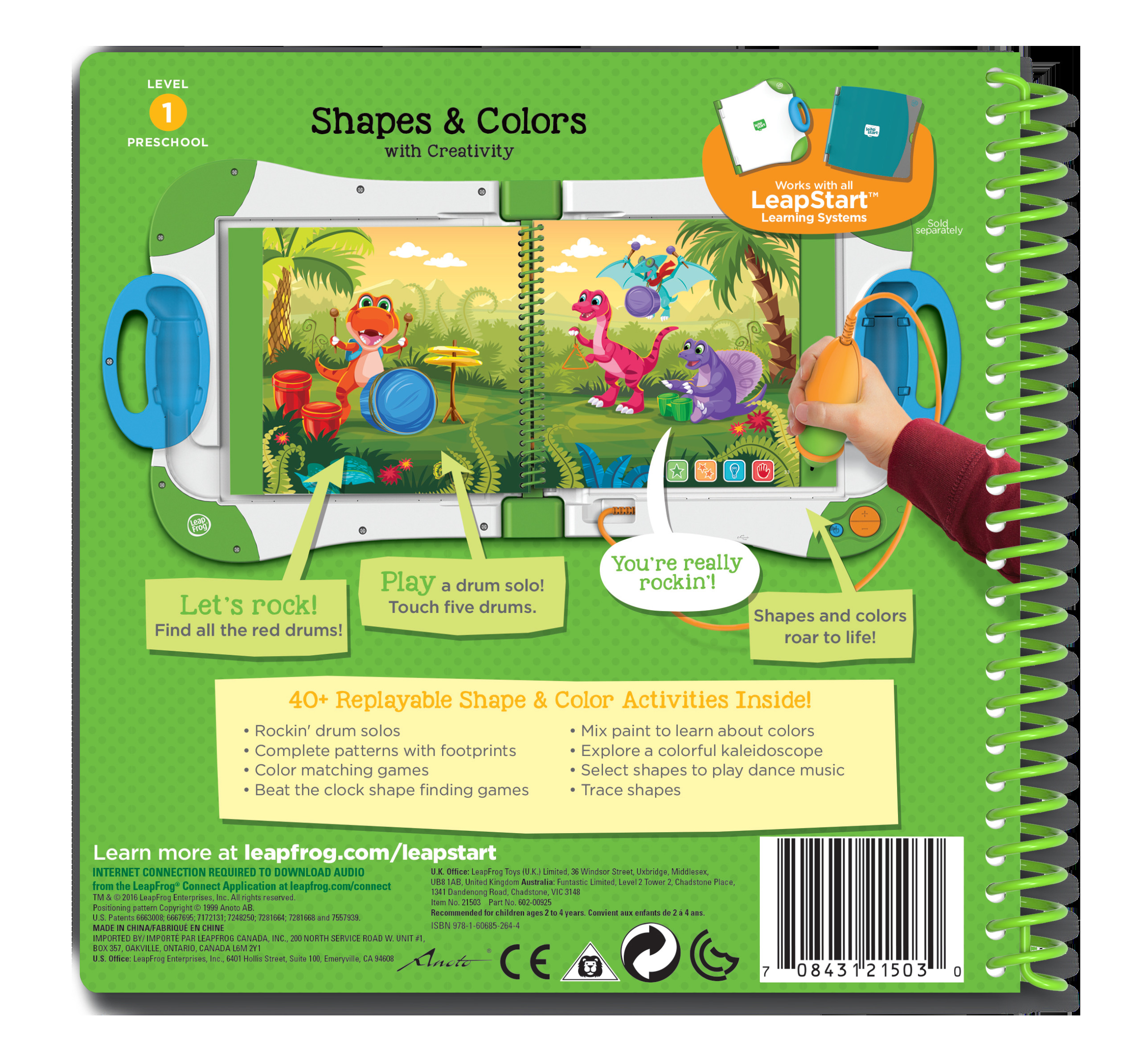 LeapFrog® LeapStart™ Preschool Shapes & Colors Activity Book ...