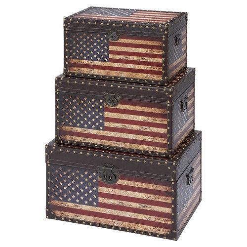 UMA Enterprises 3-Piece Liberty Trunk Set