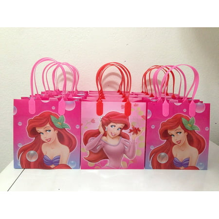 Disney Little Mermaid Party Favor Goodie Small Gift Bags, pack of 13 - Little Mermaid Favor Bags