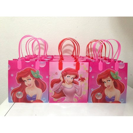 Little Mermaid Party Decor (Disney Little Mermaid Party Favor Goodie Small Gift Bags, pack of)