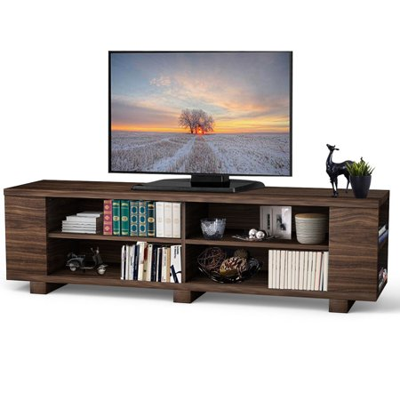 Costway 59'' Wood TV Stand Console Storage Entertainment Media Center w/ Adjustable