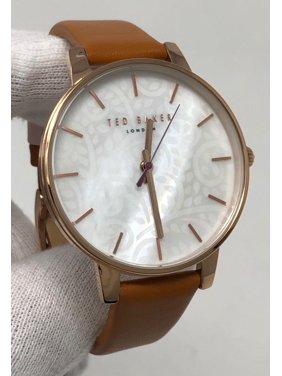 Ted Baker London 40mm White Dial Brown Leather Women's Watch TE50013006