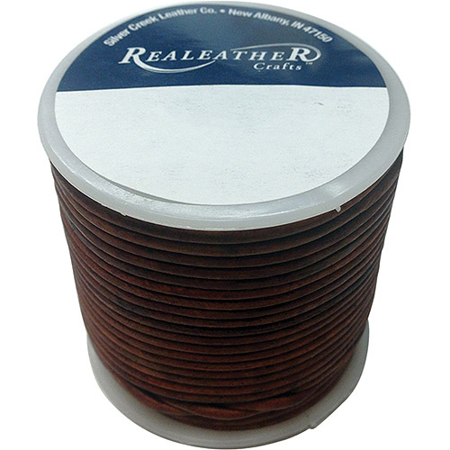 Round Leather Lace, 2mm, 25yd Spool