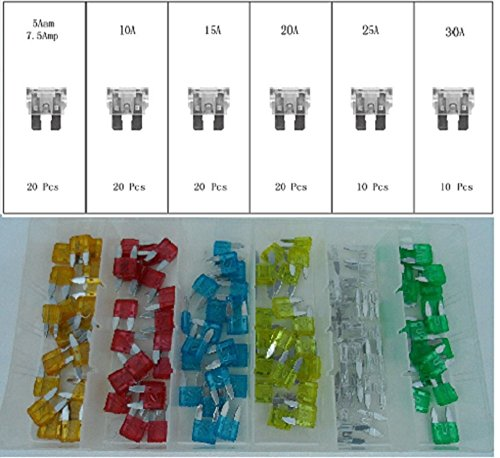 All Trade Direct 5 X Splashproof Inline 30Amp Rating Mini Blade Fuse Holder Atm Car Auto