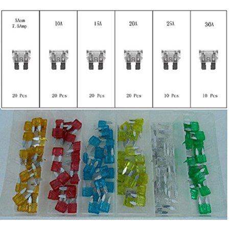 Mini Blade Fuse Assortment 100 Pieces Auto Blade Fuse Set