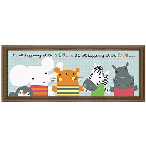 """Timeless Frames """"It's All Happening at the Zoo"""" II Framed Art, 10x8"""