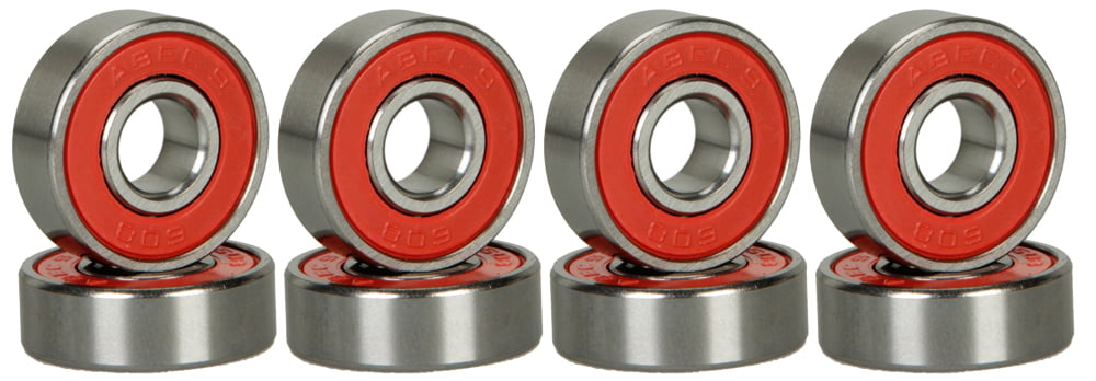 8 Skateboard Longboard Bearings PRECISION ABEC 9 RED SHIELD by