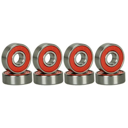 8 Skateboard Longboard Bearings PRECISION ABEC 9 RED SHIELD Longboard Skate Shop