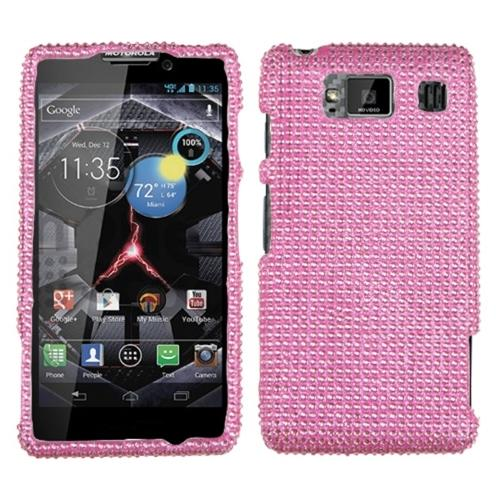 Insten Pink Diamante Case (Diamante 2.0) for MOTOROLA: XT926W (Droid Razr HD)