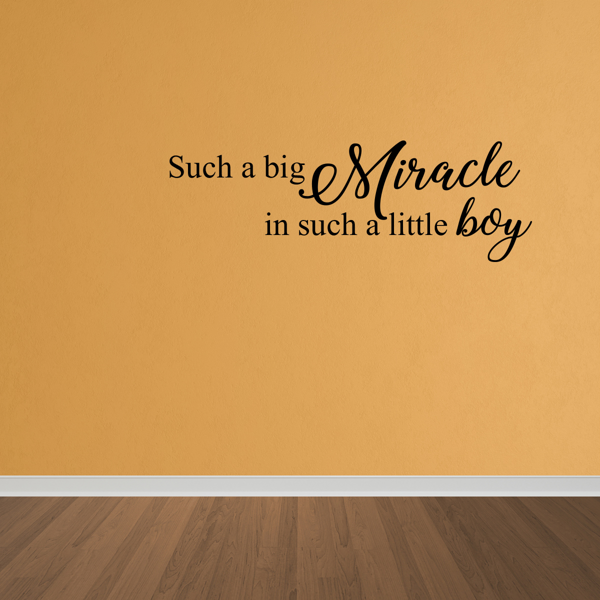 Wall Decal Quote Such Big Miracle In Such A Little Boy Decal Boy Quote Decal DP57