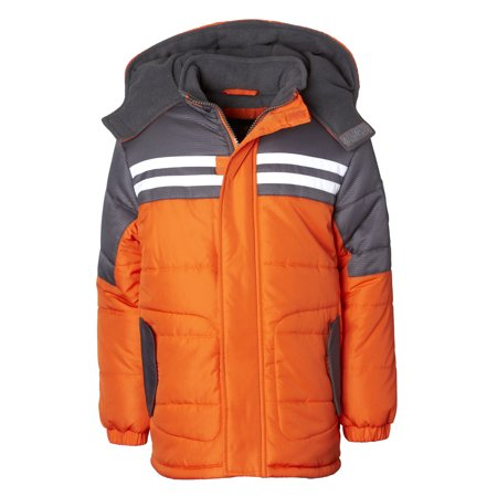 iXtreme Colorblock Expedition Puffer Jacket (Little Boys & Big - Varsity Jackets For Boys