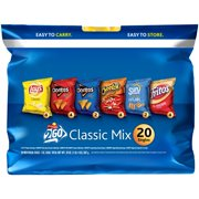 Frito Lay 2Go Classic Mix Variety Pack, 20 Count, 1 oz Bags