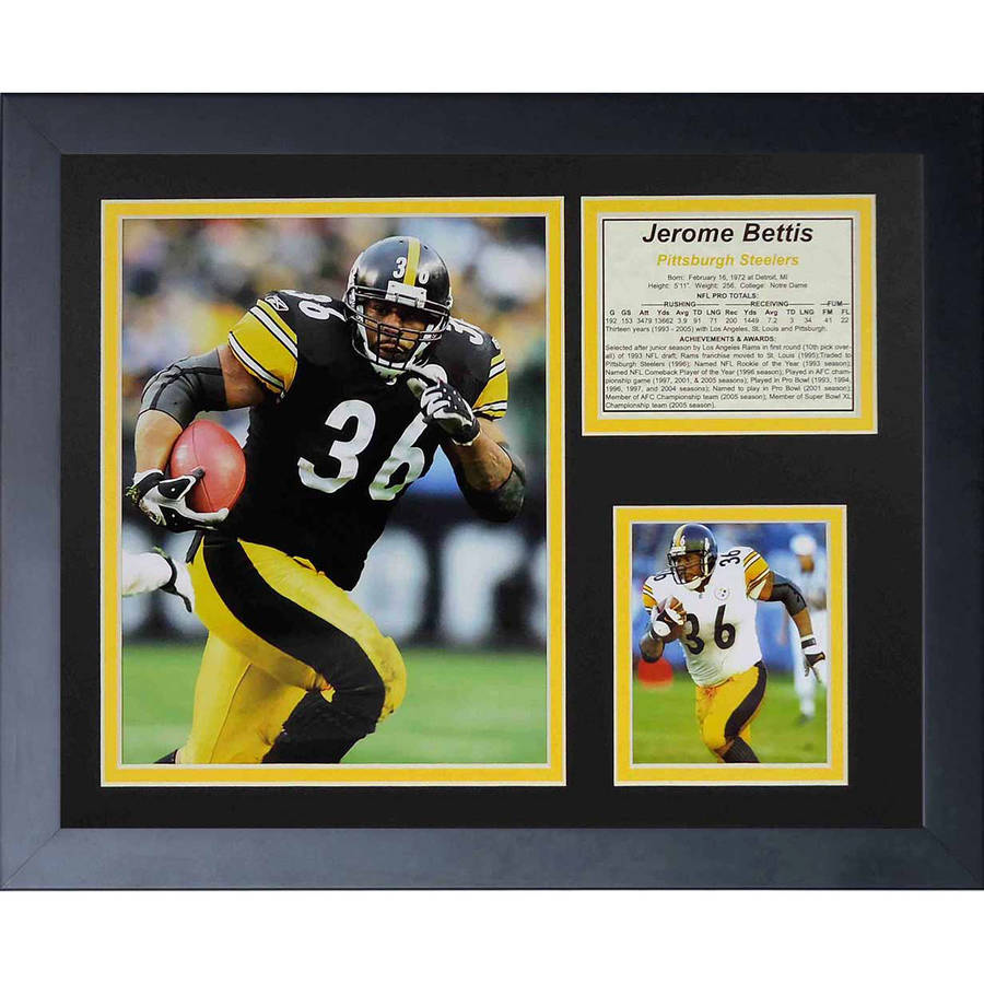"Legends Never Die ""Jerome Bettis"" Framed Photo Collage, 11"" x 14"""