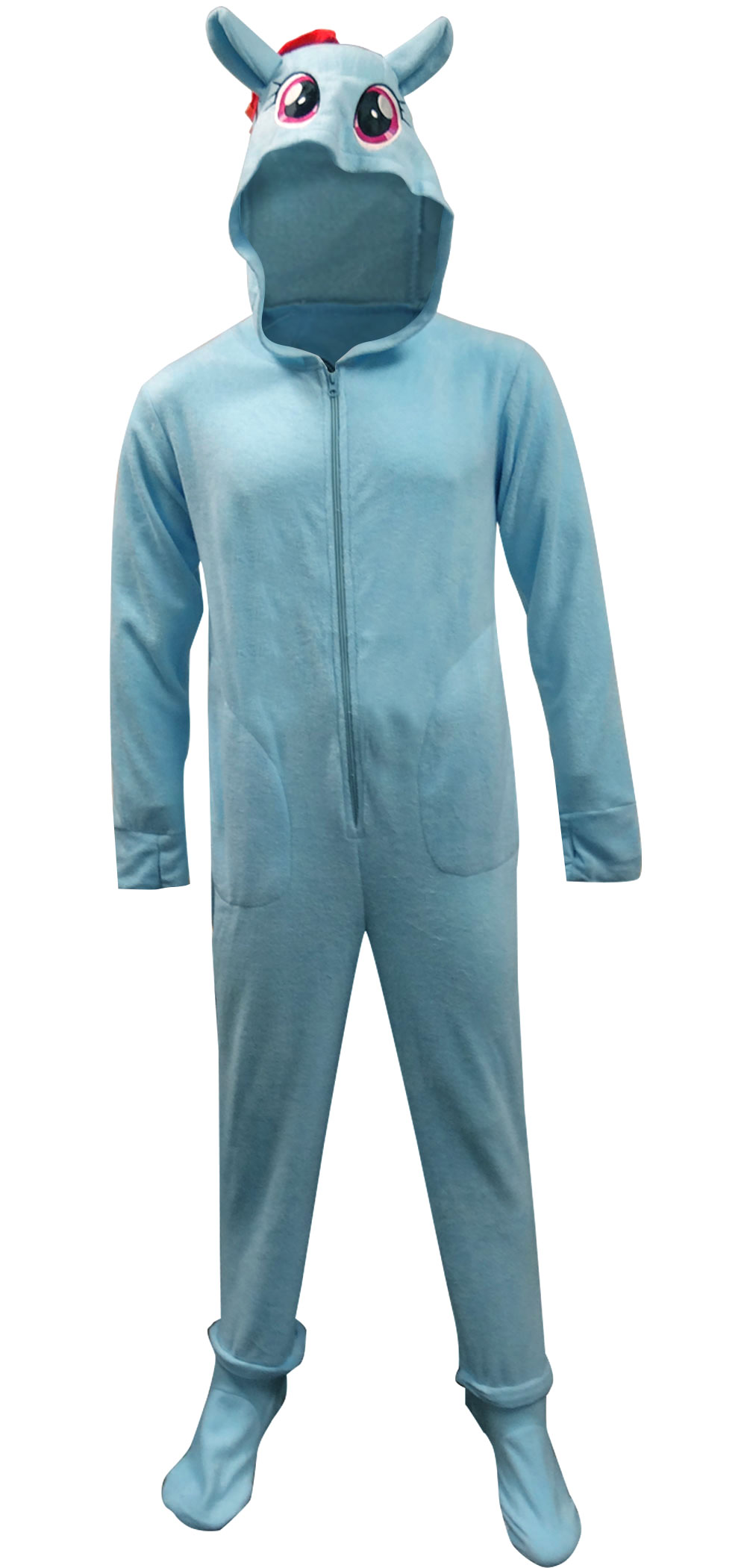 My Little Pony - My Little Pony Rainbow Dash Fleece One Piece Footie Pajama  - Walmart.com 742885295