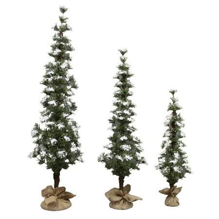 Holiday Living Christmas Tree.Holiday Living 3 Count Winter Snow Artificial Christmas Tree Set