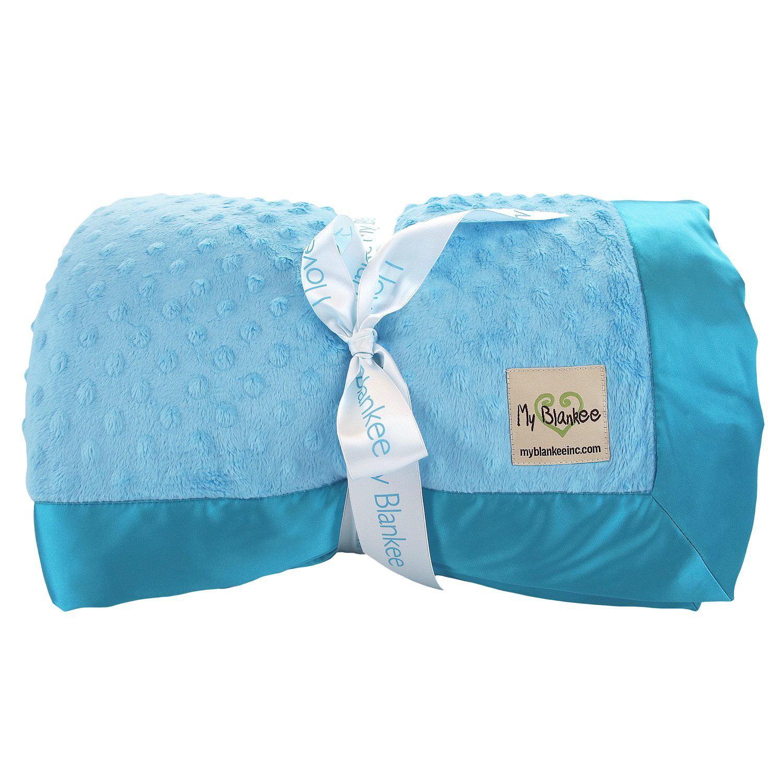 My Blankee Minky Dot Super Queen Blanket with Flat Satin ...