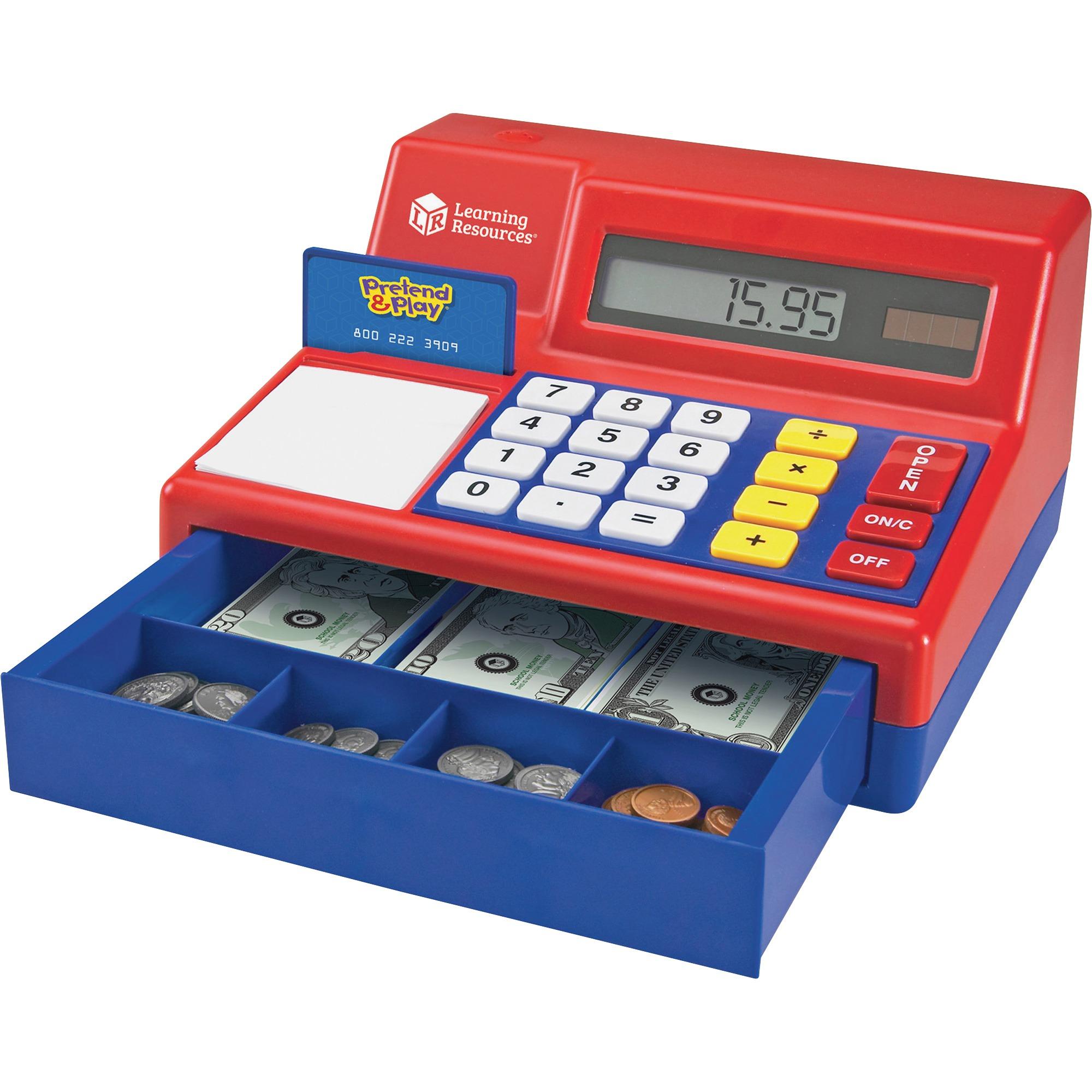 Pretend & Play, LRNLER2629, Pretend Calculator/Cash Register, 1 Each