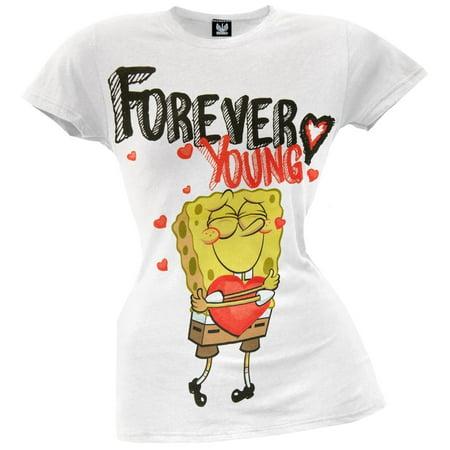 Forever Junior Tee (Spongebob Squarepants - Forever Young Juniors T-Shirt )