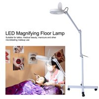 Magnifying LED Floor Lamp with Stand Flexible Adjustable Height Cold Light Reading Medical US , Flexible Height Floor Lamp, Cold Light LED Floor Lamp