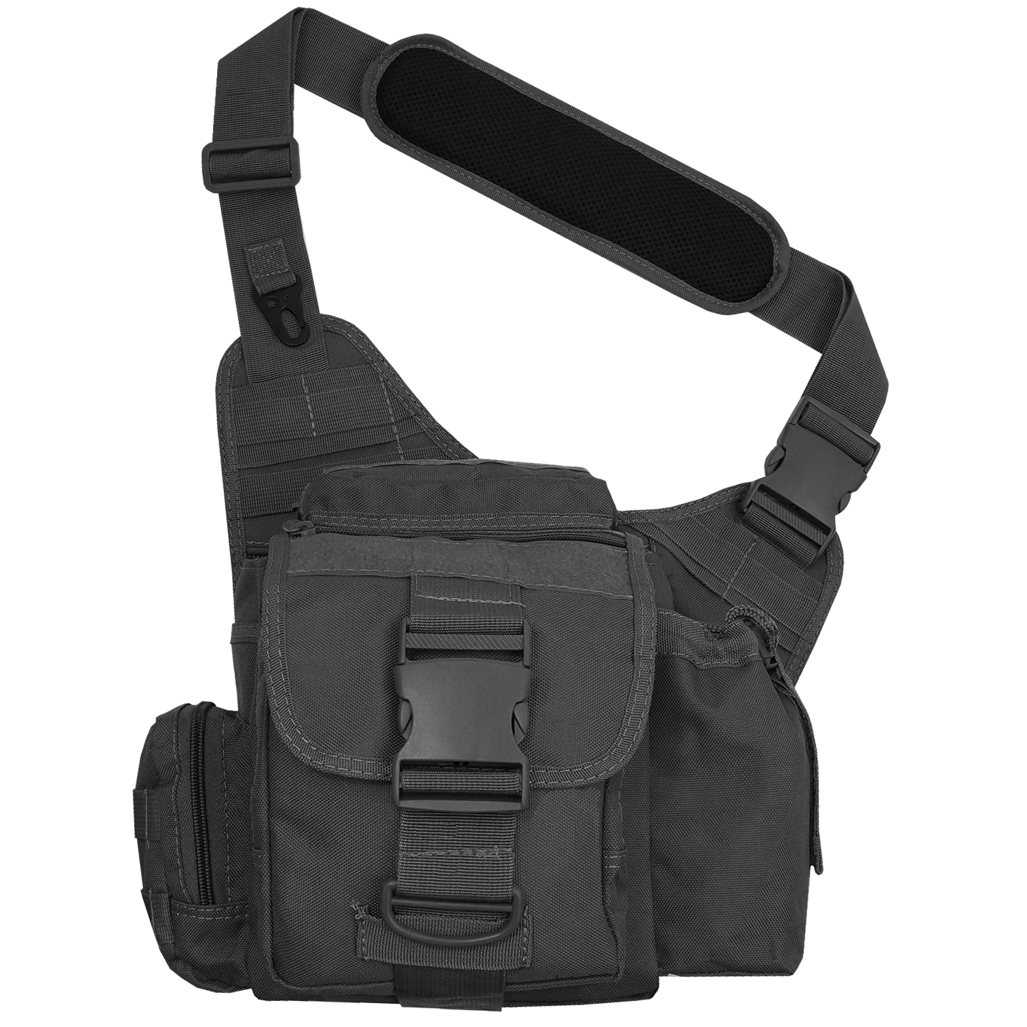 Every Day Carry Tactical Messenger MOLLE Side Sling Shoulder Bag w ...