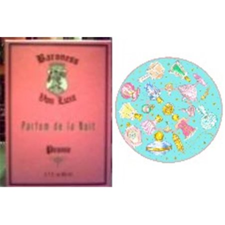 Baroness von Luxe PEONY1 Peony Fragrance & Perfume Bottles Shower Cap (Floral Perfume Bottle)