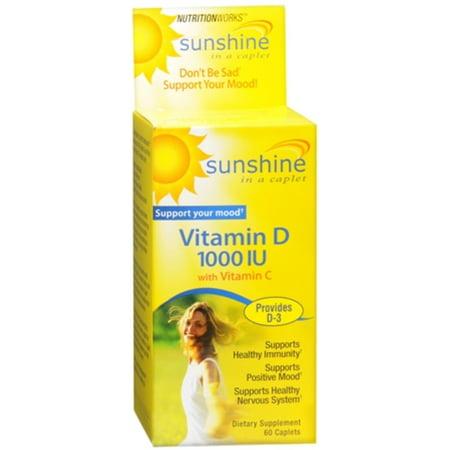 4 Pack - Nutritionworks soleil dans un Caplet La vitamine D Caplets 60 Caplets