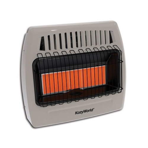 DuraHeat Kozy World 30,000 BTU Infrared Liquid Propane Gas Wall Heater