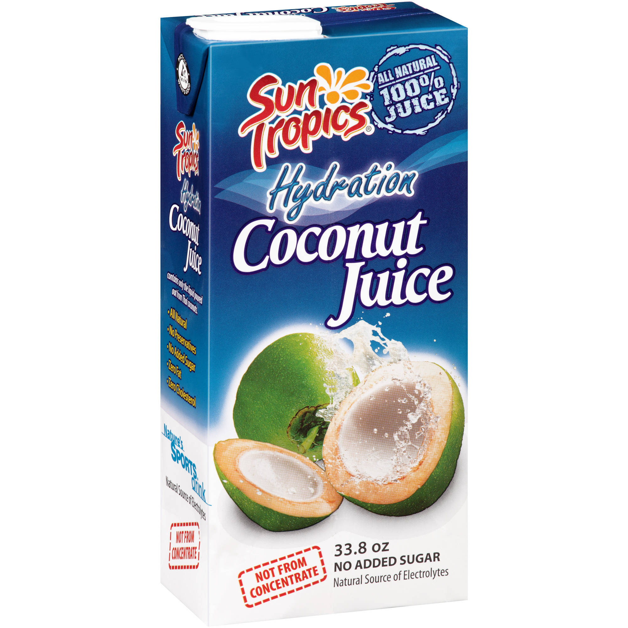Sun Tropics Hydration Coconut Juice, 33.8 oz