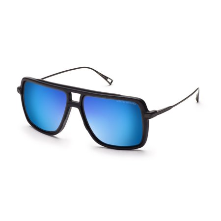 Dita Westbound Sunglasses 19015B Matte Black Iron Dark Grey Blue Flash Lens (Dita Herren Sonnenbrillen)