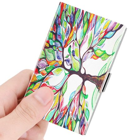 Business Card Holder, Fintie Vegan Leather Coated Stainless Steel Slim Name Card Case Organizer, Love - Riley Business Case