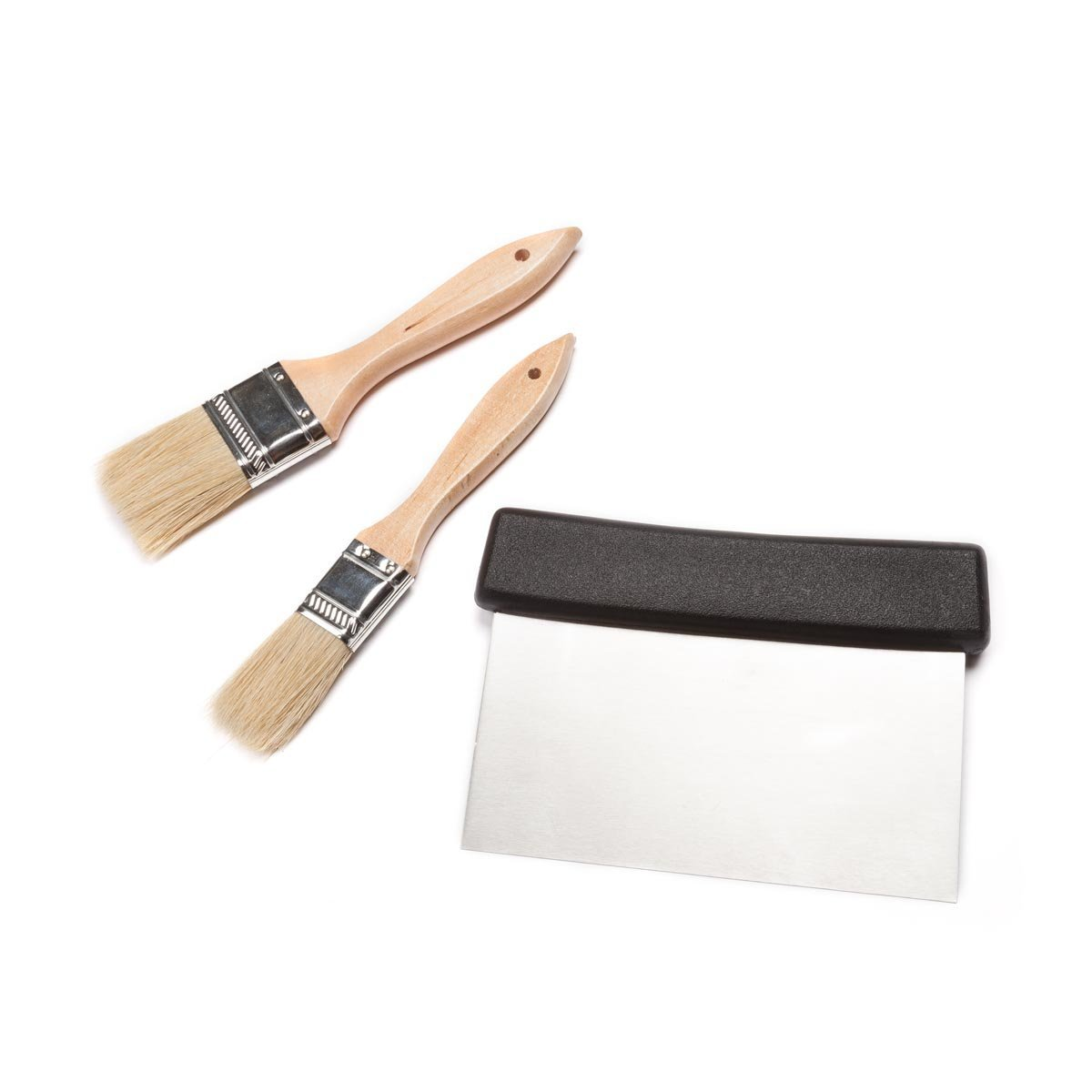 3 Piece Pastry Brush and Dough Scraper Set, By FortheChef Ship from US by