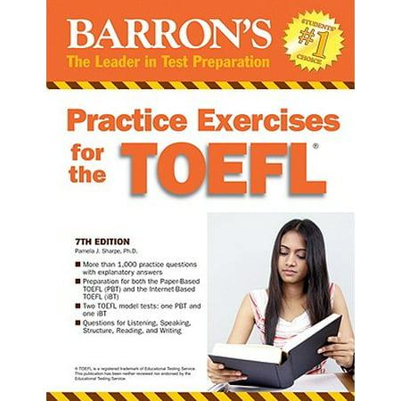 Practice Exercises for the TOEFL - Walmart com