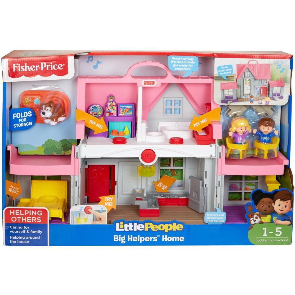 Little People Big Helpers Home Pink With Emma Jack Dog Figures