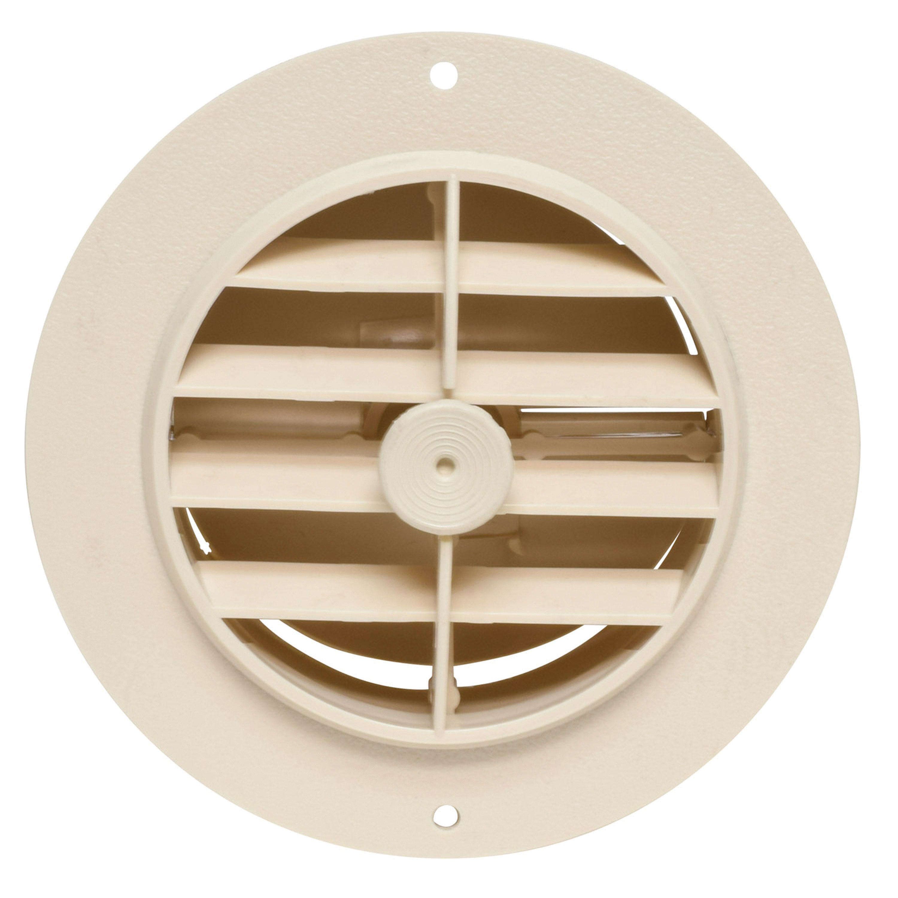 """Valterra A10-3349VP Rotating/Dampered Heating and A/C Register - 4"""" ID x 5-3/8"""" OD, Beige"""