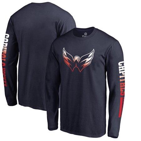 buy online b6b18 fd5ad Washington Capitals Fanatics Branded Gradient Logo Long Sleeve T-Shirt -  Navy
