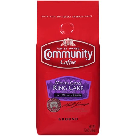Community® Coffee Mardi Gras King Cake Ground Coffee 12 oz. Bag - Marsi Gras
