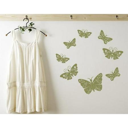 Floral Butterflies Wall Decal wall decal sticker mural vinyl art home