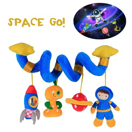 Labebe Car Seat Toy Hanging For Baby With Blue Astronaut Crib