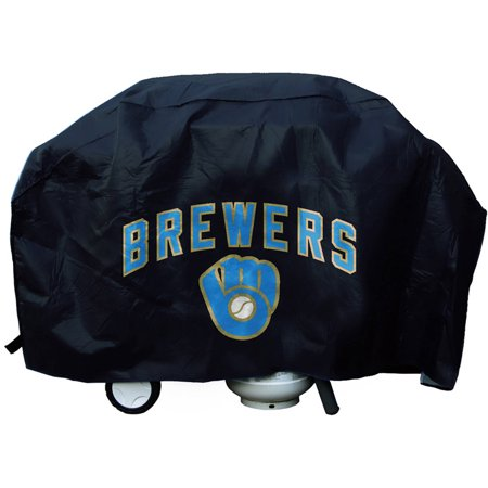 Milwaukee Brewers Mlb Carpet (MLB Rico Industries Deluxe Grill Cover, Milwaukee Brewers Ball and Glove )