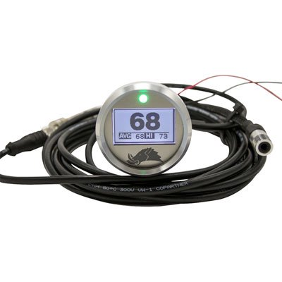 Razorback Pro Sensor Belt Temp Gauge 3.0 Edition Black for Textron WILDCAT 4X 1000