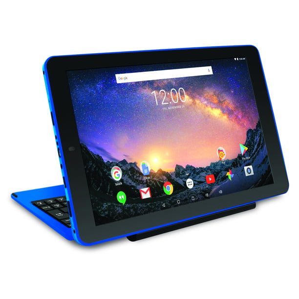 "RCA Galileo Pro 11.5"" 32GB 2-in-1 Tablet with Keyboard Case Android OS, Blue"