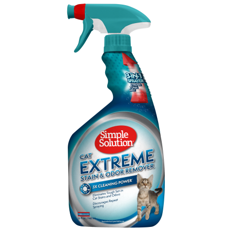 Cat Odor Remover - Simple Solution Cat Extreme Stain and Odor Remover With Pro-Bacteria and Enzyme Formula