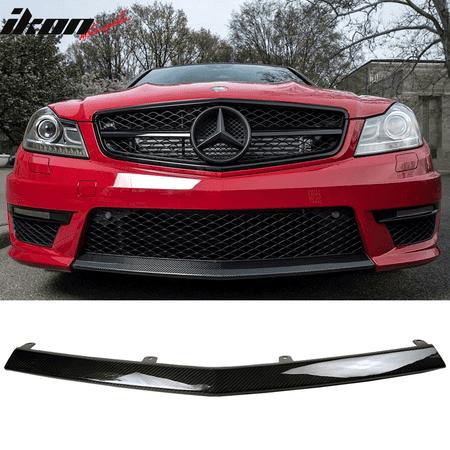 Front Lip Seibon Carbon - Fits 12-14 Benz W204 C-Class Sedan C63 AMG Only CF Carbon Fiber OE Front Lip