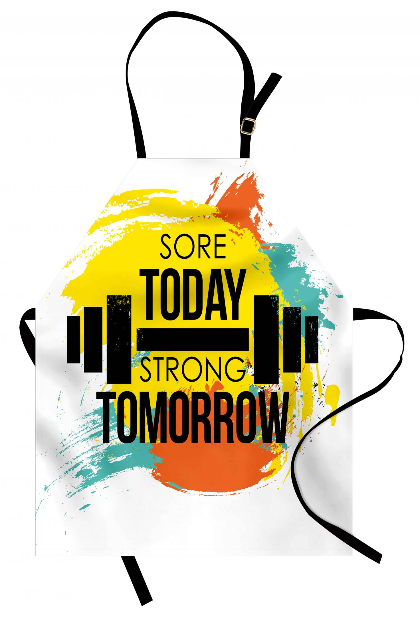 Fitness Apron Sore Today Strong Tomorrow Gym Quote