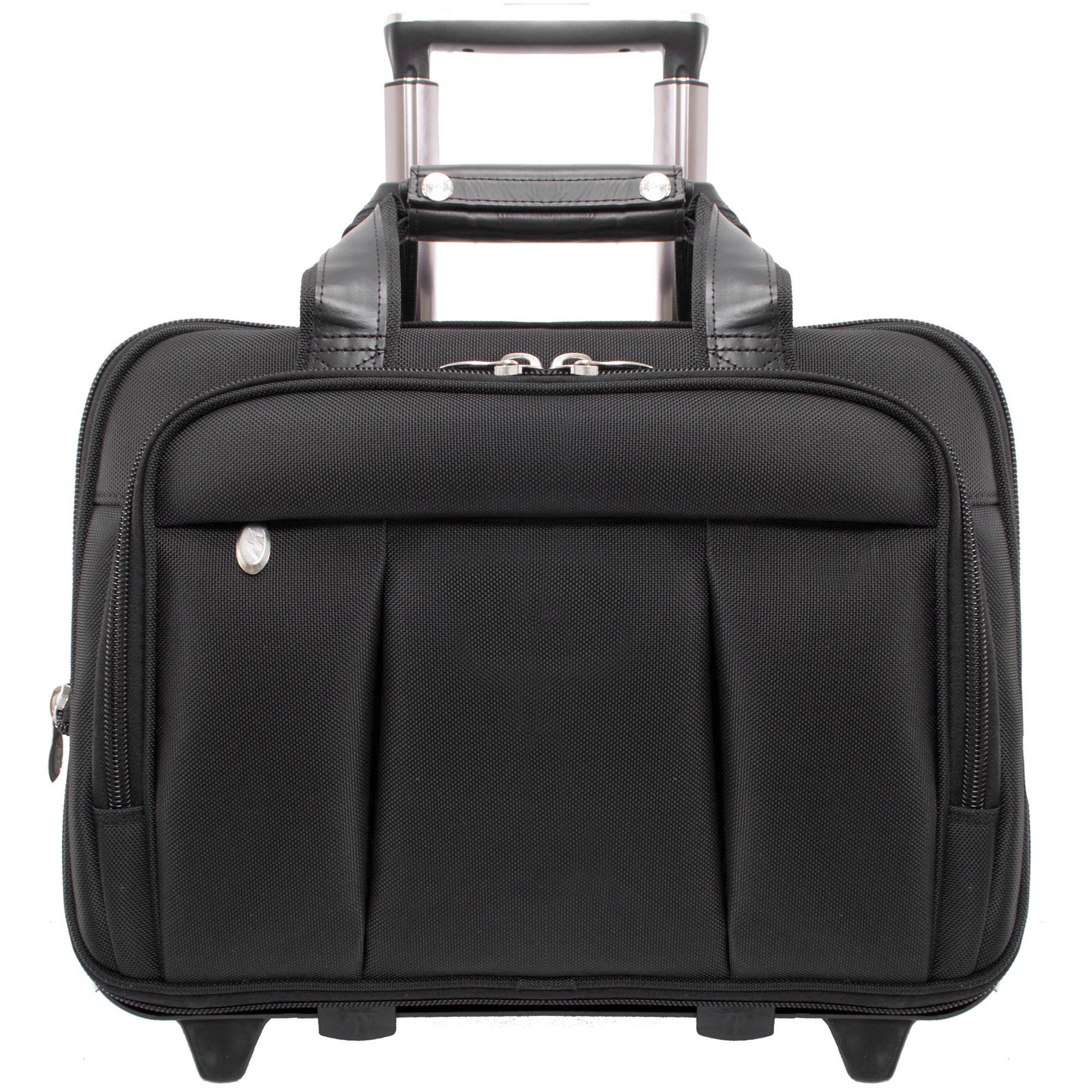 "McKlein Damen 17"" Detachable-Wheeled Laptop Case, 70715, Black"