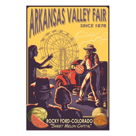 Rocky Ford, Colorado, Arkansas Valley Fair Print Wall Art By Lantern Press](Valley Fair Ca Halloween)