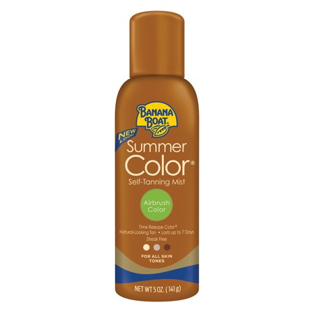 (3 pack) Banana Boat Summer Color Self-Tanning Spray Mist Airbrush Color - 5 Ounces