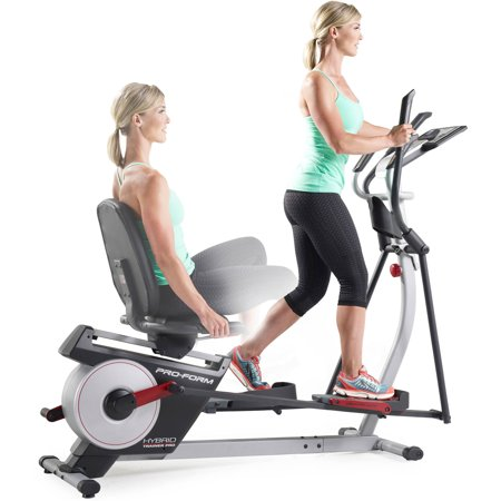 ProForm Hybrid Trainer PRO, 2-in-1 Elliptical and Recumbent Bike with 20 Resistance Levels](black friday deals on elliptical trainers)