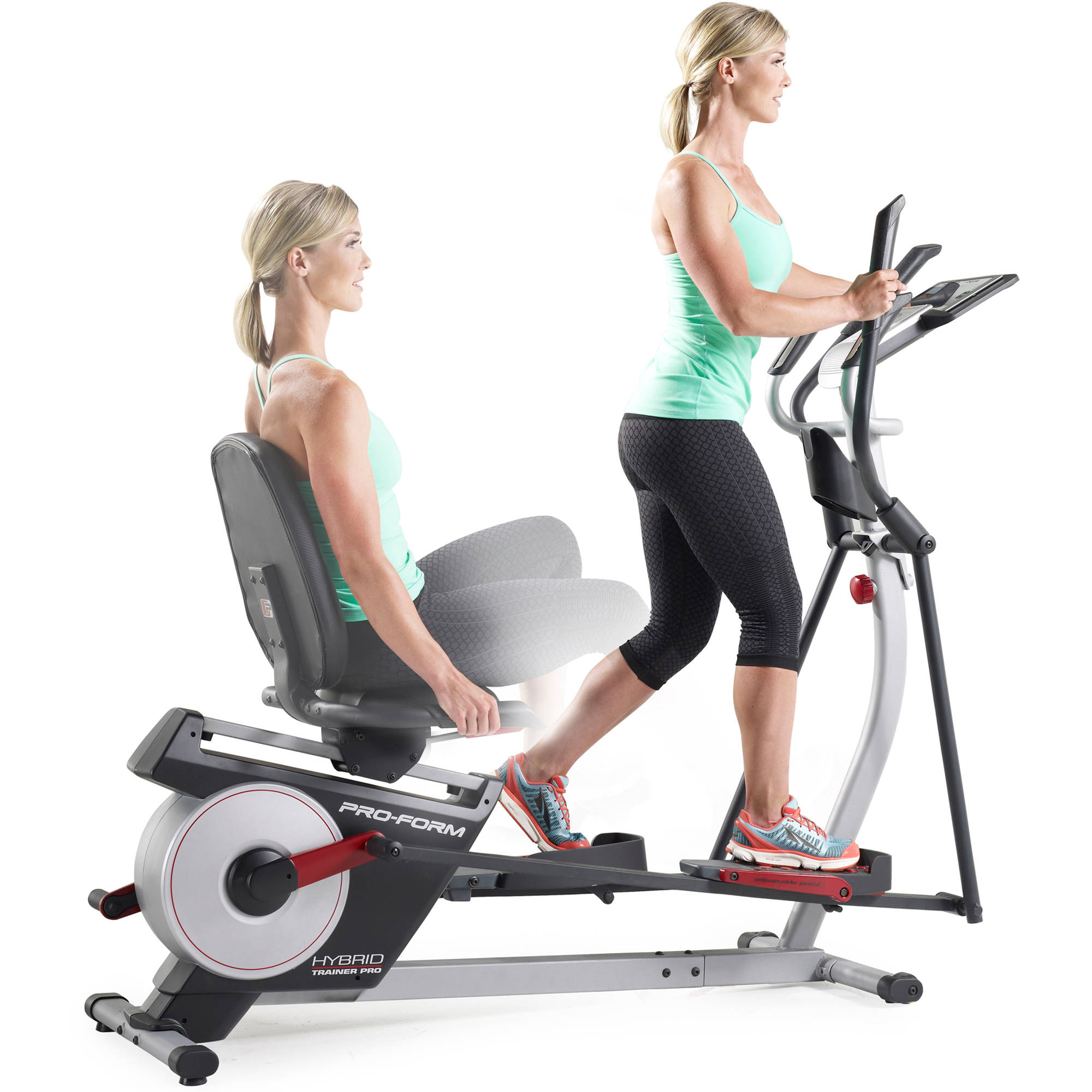 ProForm Hybrid Trainer PRO, 2-in-1 Elliptical and Recumbent Bike with 20 Resistance Levels