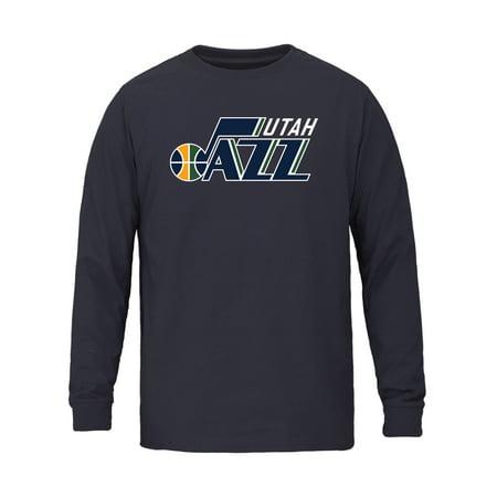 Utah Jazz Logo (Utah Jazz Fanatics Branded Youth Primary Logo Long Sleeve T-Shirt -)